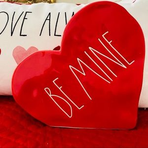 Rae Dunn Valentine Be Mine Large Ceramic Heart